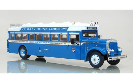 1/50 1931 Mack BK Parlor Coach Greyhound バス(ブルー×ホワイト) [AMM16001]