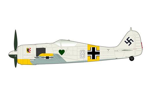 """【新品】ミニカー 1/48 Fw190 A-4 フォッケウルフ """"ホワイト8"""" [HA7421]"""