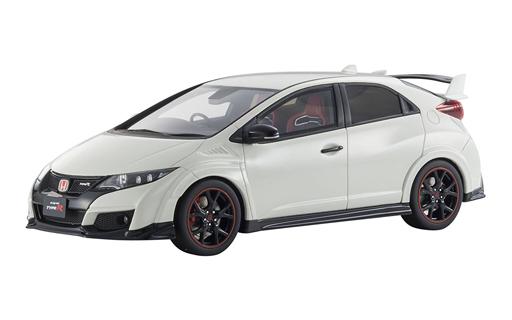 【新品】ミニカー 1/18 Honda Civic Type R(ホワイト) 「SAMURAIシリーズ」 [KSR18022W]