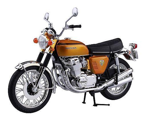 【新品】ミニカー 1/12 Honda CB750FOUR K0(キャンディゴールド) 「完成品バイクシリーズ」 [104309]