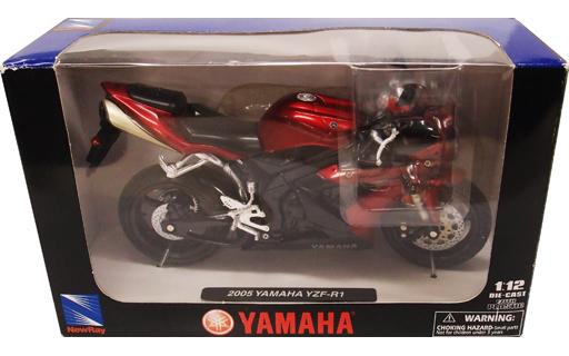 【中古】ミニカー 1/12 2005 YAMAHA YZF-R1(レッド×ブラック) 「RoadRider collection」 [42333B]