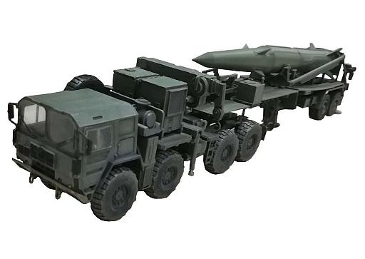 【新品】ミニカー 1/72 NATO M1001 MAN トラクター&パーシングII ミサイル 第1大隊第9砲兵連隊 ワイリー・バラック ノイウルム 1988 [MODAS72101]