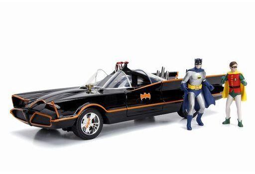 JADA TOYs 新品 ミニカー 1/18 バットモービル クラシック TVシリーズ バットマン & ロビン フィギュア付 「バットマン」 [JADA98625]