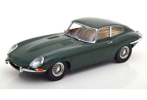 KK scale(ケーケースケール) 新品 ミニカー 1/18 Jaguar E-Type Coupe Series 1 RHD 1961 british racing creme interior(グリーン) [KKDC180433]