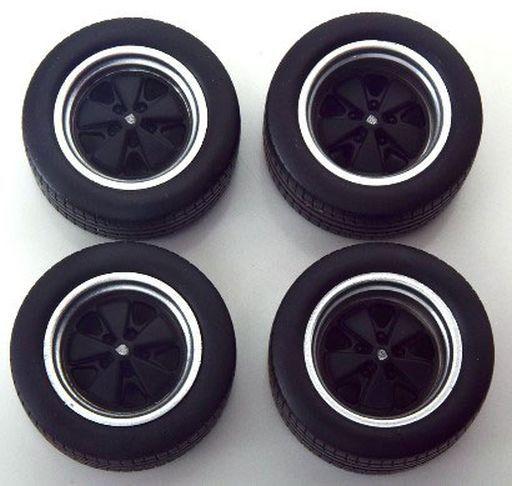 KK scale(ケーケースケール) 新品 ミニカー 1/18 Tire Set Spoke Rims black [KKDCACC003]