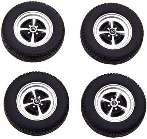 KK scale(ケーケースケール) 予約 ミニカー 1/18 Opel Kadett 1965-1973 Tire Set with rims(ブラック×シルバー) [KKDCACC011]