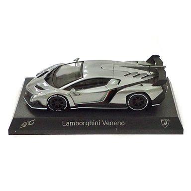 【中古】ミニカー 1/64 Lamborghini Veneno(シルバー×ホワイト) 「ランボルギーニ ヴェネーノ ミニカーコレクション」 サークルK・サンクス限定