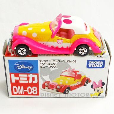 【中古】ミニカー ドリームスター ミニーマウス(ホワイト×イエロー×ピンク) 「ディズニーモータース DM-08」