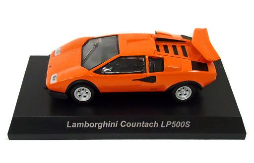 【中古】ミニカー 1/64 LAMBORGHINI Countach LP500S(オレンジ) 「ランボルギーニ ミニカーコレクション5」 サークルK・サンクス限定