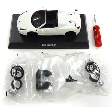 【中古】ミニカー 1/64 Ferrari 458 Spider(ホワイト) 「フェラーリ ミニカーコレクション9 NEO」 サークルK・サンクス限定