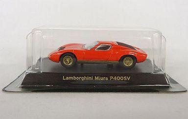 【中古】ミニカー 1/64 Lamborghini Miura P400SV(レッド) 「ランボルギーニ ミニカーコレクション」 サークルK・サンクス限定