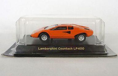 【中古】ミニカー 1/64 Lamborghini Countach LP400(オレンジ) 「ランボルギーニ ミニカーコレクション」 サークルK・サンクス限定