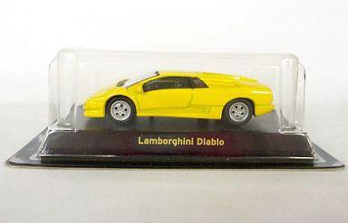 【中古】ミニカー 1/64 Lamborghini Diablo(イエロー) 「ランボルギーニ ミニカーコレクション」 サークルK・サンクス限定