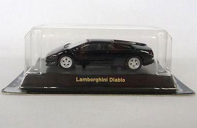 【中古】ミニカー 1/64 Lamborghini Diablo(ブラック) 「ランボルギーニ ミニカーコレクション」 サークルK・サンクス限定