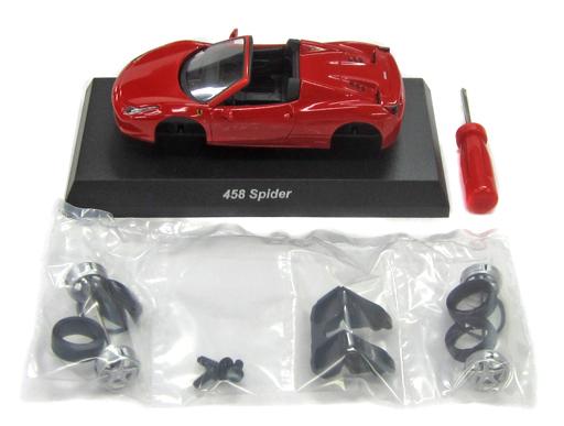 【中古】ミニカー 1/64 Ferrari 458 Spider(レッド) 「フェラーリミニカーコレクション 9」 サークルK・サンクス限定