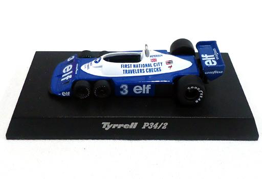 【中古】ミニカー 1/64 Tyrrell P34/2 1977 #3 R.PETERSON(ブルー×ホワイト) 「ティレルミニカーコレクション」 サークルK・サンクス限定