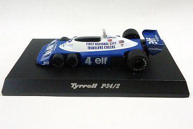 【中古】ミニカー 1/64 Tyrrell P34/2 1977 #4 P.DEPAILLER(ブルー×ホワイト) 「ティレルミニカーコレクション」 サークルK・サンクス限定