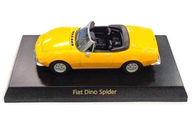 【中古】ミニカー 1/64 Fiat Dino Spider(イエロー) 「フィアット&ランチア ミニカーコレクション」 サークルK・サンクス限定