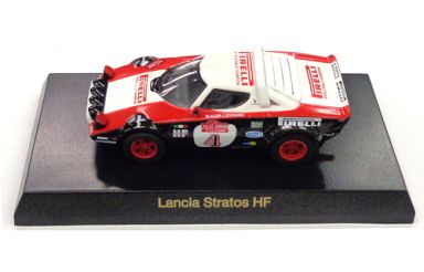 【中古】ミニカー 1/64 Lancia Stratos HF #4(ホワイト×ブラック) 「フィアット&ランチア ミニカーコレクション」 サークルK・サンクス限定