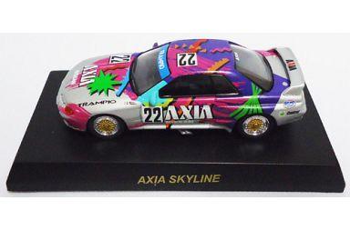 【中古】ミニカー 1/64 AXIA SKYLINE #22(ホワイト×パープル) 「ニッサン スカイライン GT-R R32 GROUP A ミニカーコレクション」 サークルK・サンクス限定