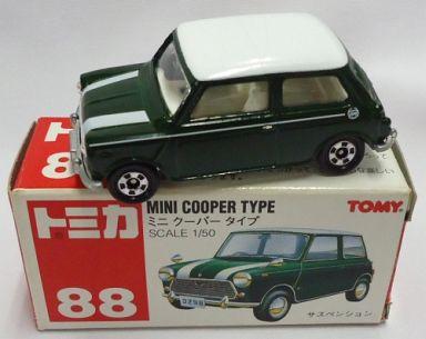 【中古】ミニカー 1/50 ミニ クーパータイプ(グリーン×ホワイト/赤箱) 「トミカ No.88」