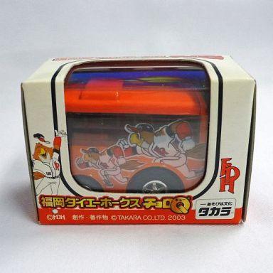 【中古】ミニカー チョロQ 福岡ダイエーホークス バス(オレンジ)