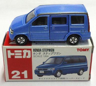 【中古】ミニカー 1/64 ホンダ ステップワゴン(ブルー/赤箱) 「トミカ No.21」