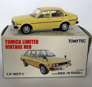 【中古】ミニカー 1/64 TLV-N07b トヨタ カローラ 1500GL(ベージュ) 「トミカリミテッドヴィンテージNEO」 [213475]