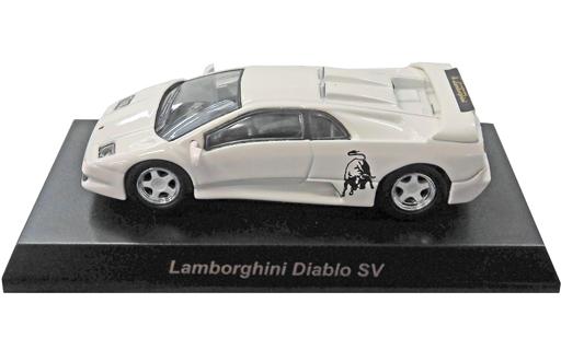【中古】ミニカー 1/64 Lamborghini Diablo SV(ホワイト) 「ランボルギーニ ミニカーコレクション4」 サークルK・サンクス限定