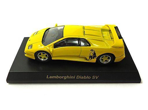 【中古】ミニカー 1/64 Lamborghini Diablo SV(イエロー) 「ランボルギーニ ミニカーコレクション4」 サークルK・サンクス限定