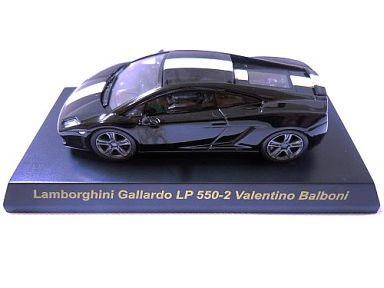 【中古】ミニカー 1/64 Lamborghini Gallardo LP550-2 Valentino Balboni(ブラック) 「ランボルギーニ ミニカーコレクション3」 サークルK・サンクス限定