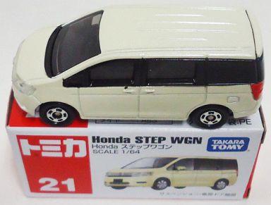 【中古】ミニカー 1/64 Honda ステップワゴン(ホワイト) 「トミカ No.21」