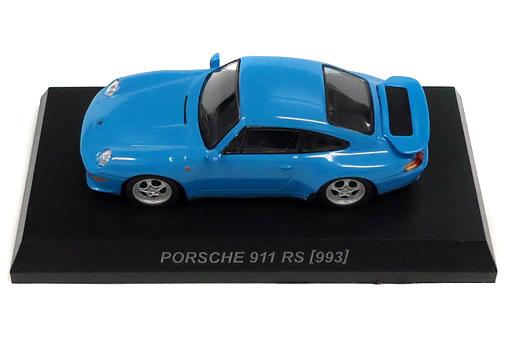 【中古】ミニカー 1/64 Porsche 911 RS 993(ブルー) 「ポルシェ ミニカーコレクション 6」 サークルK・サンクス限定