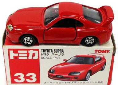 【中古】ミニカー 1/60 トヨタ スープラ(レッド/赤箱) 「トミカ No.33」