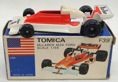 【中古】ミニカー 1/56 マクラーレン M26 フォード(レッド×ホワイト/青箱) 「トミカ 外国車シリーズ F39」