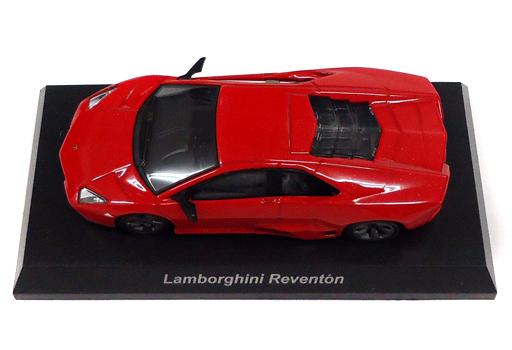 【中古】ミニカー 1/64 Lamborghini Reventon(レッド) 「ランボルギーニ ミニカーコレクション6」 サークルK・サンクス限定