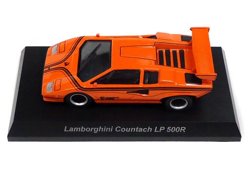 【中古】ミニカー 1/64 Lamborghini Countach LP500R(オレンジ) 「ランボルギーニ ミニカーコレクション6」 サークルK・サンクス限定