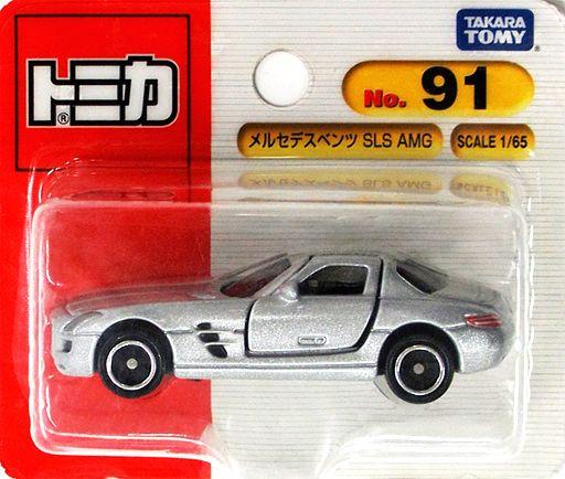 【中古】ミニカー 1/65 メルセデスベンツSLS AMG(シルバー) 「トミカ No.91」