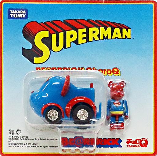 【中古】ミニカー BE@RBRICK -ベアブリック- チョロQ スーパーマンver. 「スーパーマン」
