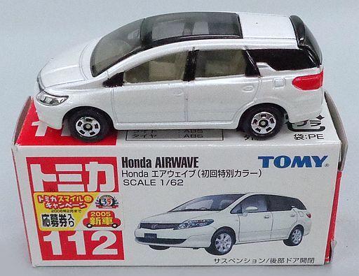 【中古】ミニカー 1/62 Honda エアウェイブ 初回特別カラー(ホワイト) 「トミカ No.112」