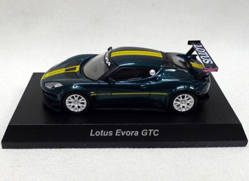 【中古】ミニカー 1/64 Lotus Evora GTC(グリーン×イエロー) 「ロータス ミニカーコレクション」 サークルK・サンクス限定