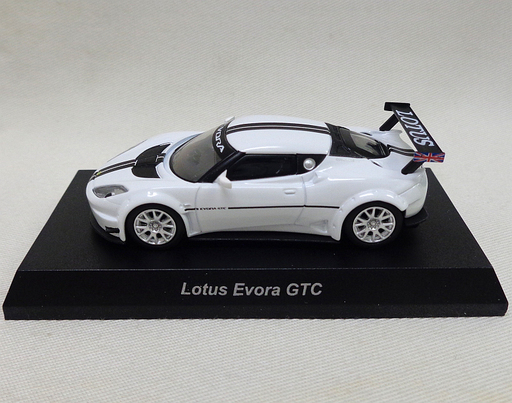 【中古】ミニカー 1/64 Lotus Evora GTC(ホワイト×ブラック) 「ロータス ミニカーコレクション」 サークルK・サンクス限定