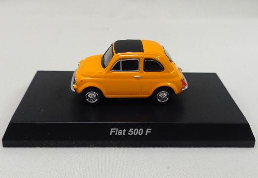 【中古】ミニカー 1/64 FIAT 500F(イエロー) 「フィアット500 ミニカーコレクション」 サークルK・サンクス限定