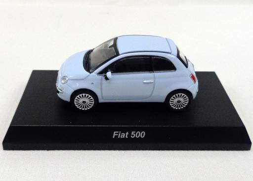 【中古】ミニカー 1/64 FIAT 500(スカイブルー) 「フィアット500 ミニカーコレクション」 サークルK・サンクス限定