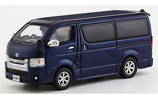 【新品】ミニカー 1/64 トヨタ ハイエース 2014(ダークブルー) [KS06663BM]