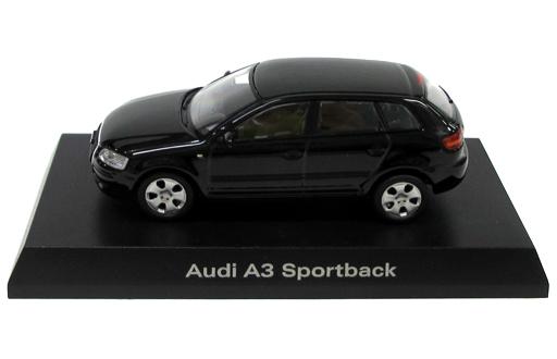 【中古】ミニカー 1/64 Audi A3 Sportback(ブラック) 「アウディ ミニカーコレクション2」 サークルK・サンクス限定