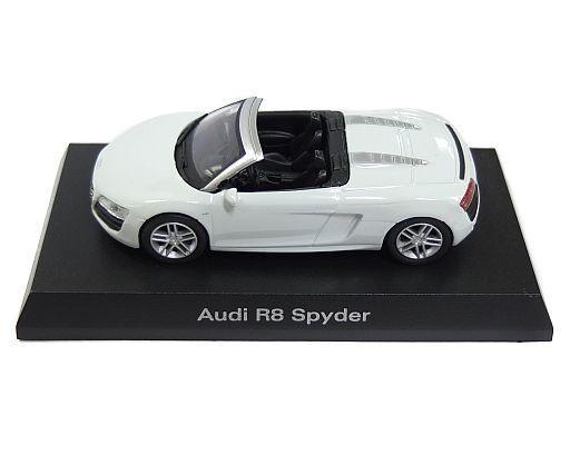 【中古】ミニカー 1/64 Audi R8 Spyder(ホワイト) 「アウディ ミニカーコレクション2」 サークルK・サンクス限定