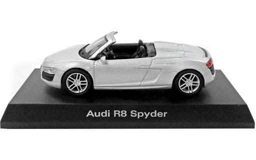 【中古】ミニカー 1/64 Audi R8 Spyder(シルバー) 「アウディ ミニカーコレクション2」 サークルK・サンクス限定