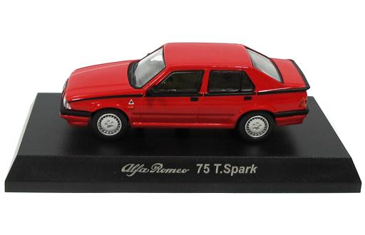 【中古】ミニカー 1/64 Alfa Romeo 75 T.Spark(レッド) 「アルファロメオ ミニカーコレクション4」 サークルK・サンクス限定