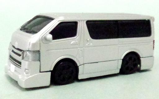 【中古】ミニカー 1/80 トヨタ ハイエース 200系 4型 シルバーメタリック(標準塗装) 標準グリル&フロントスポイラーB型 「HIACE SUPER GL 極 トヨタ ハイエース 200系 4型」